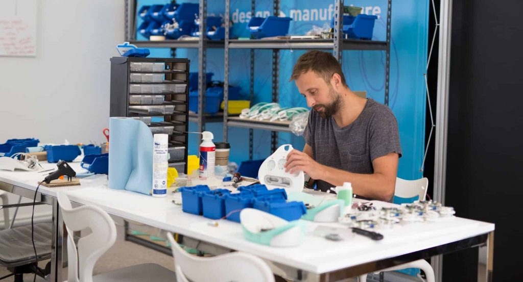 Cortex designer assembling CNC prototypes