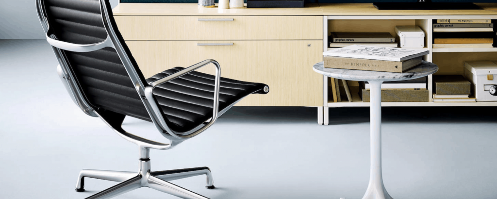 black eames chair in minimal style design office