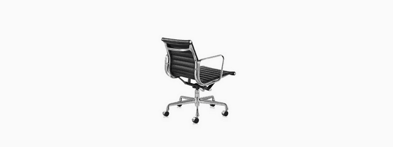 black eames office chair
