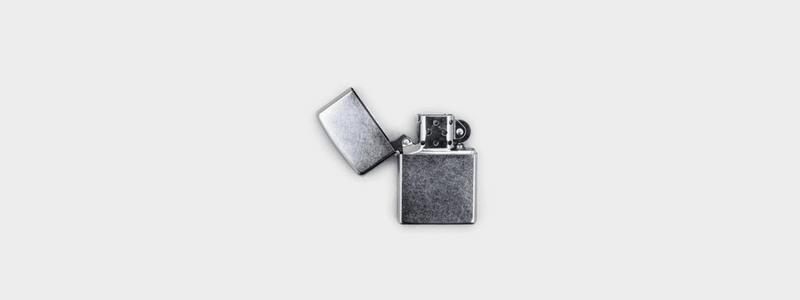 sleek stainless steel zippo lighter