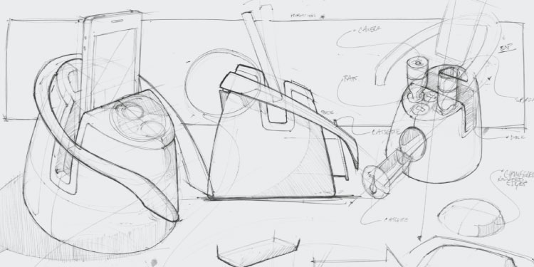 initial concept design sketches for Cloud DX