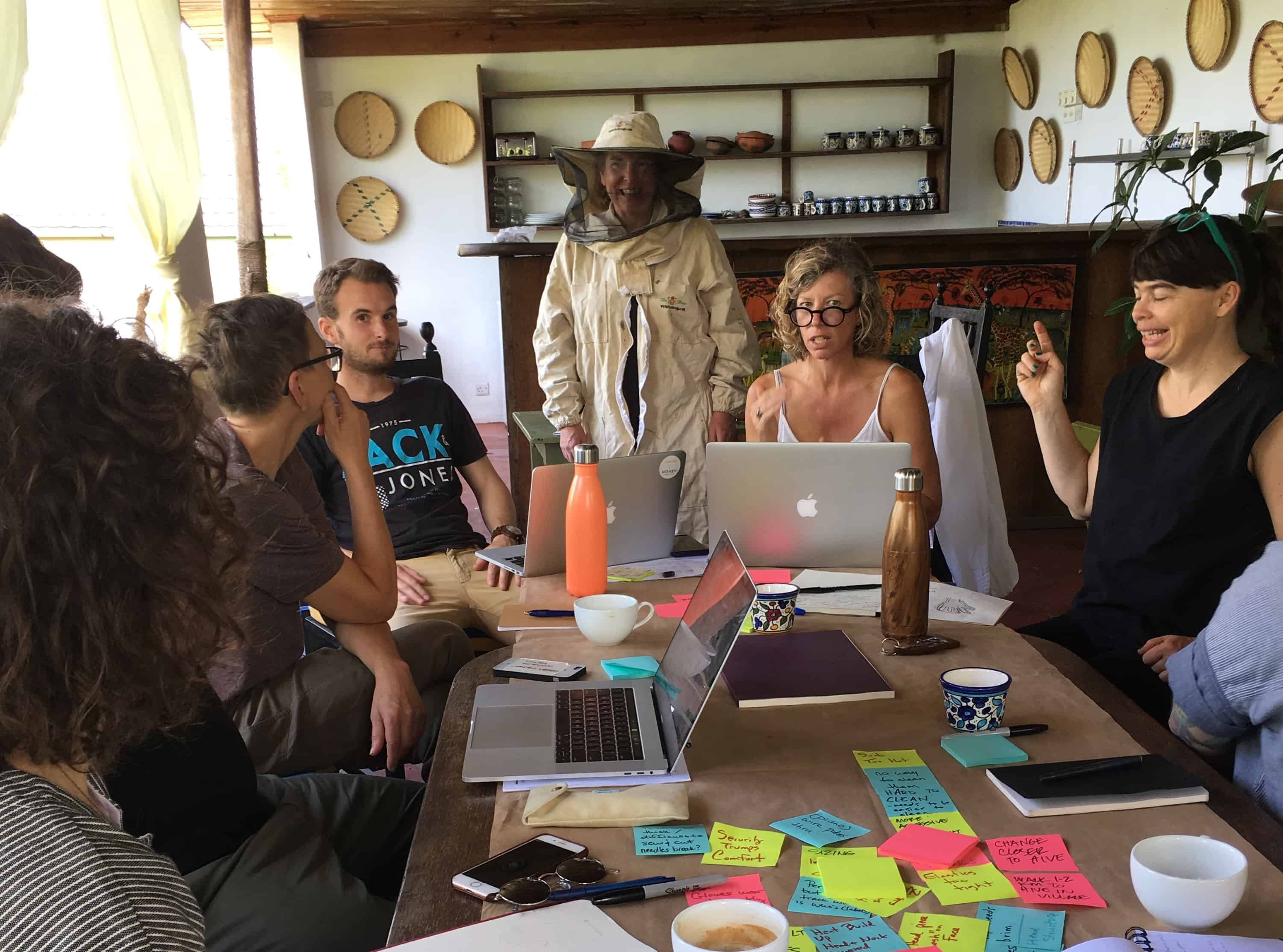 product designers work with users on concept ideation